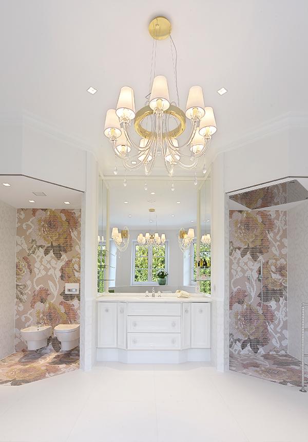 Moderne Villa Inneneinrichtung Badezimmer