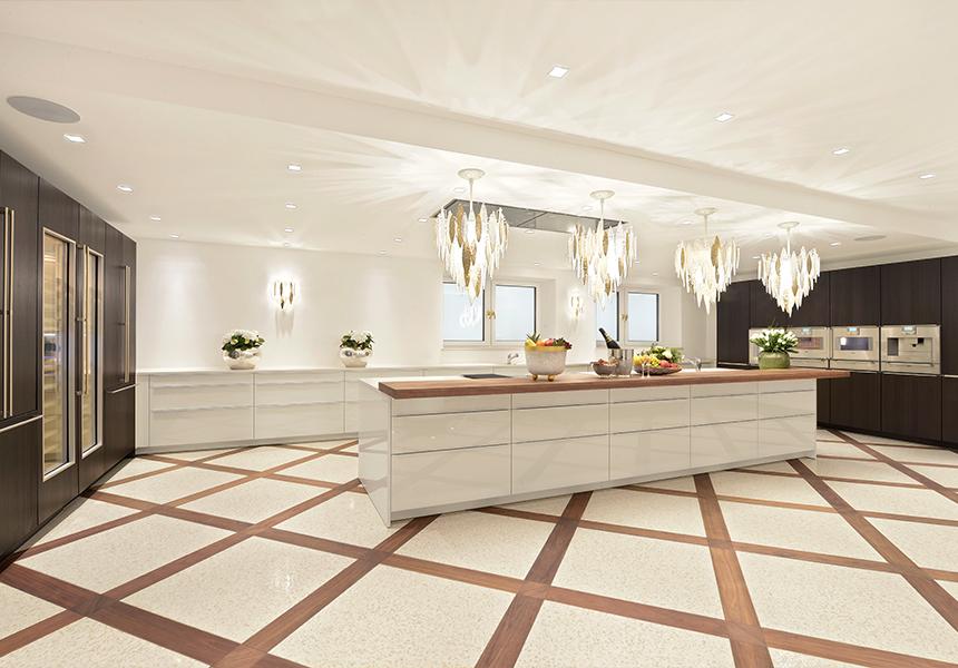 Moderne Villa Inneneinrichtung Küche